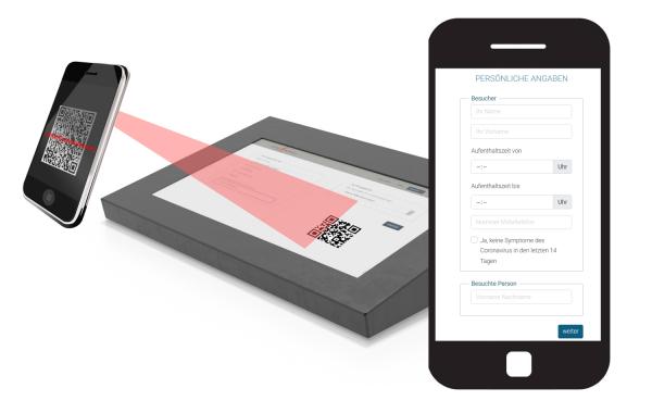 QR-Code Modul zum kontaktlosen check-in